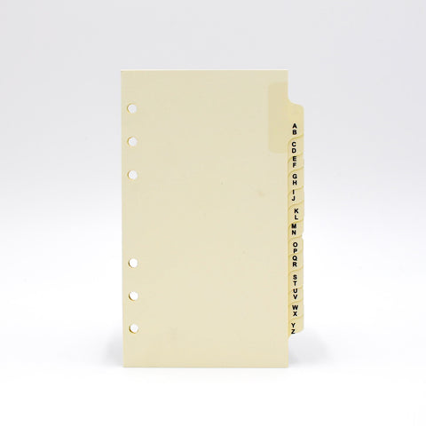 "Sungraphix Louis Vuitton Preference Collection Item PC3D646 6 3/4"" x 3 3/4"" 6-Ring Address Tabs addresses tab refill refills insert inserts pages page paper ivory white alpha alphabet telephone phone a to z 6 hole punched ring rings holes"