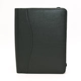 Leather: 7-1/2 x 9-3/4 Forrest Green Zippered Cover for Wirebound, 3-Hole, or 7-Hole Inserts