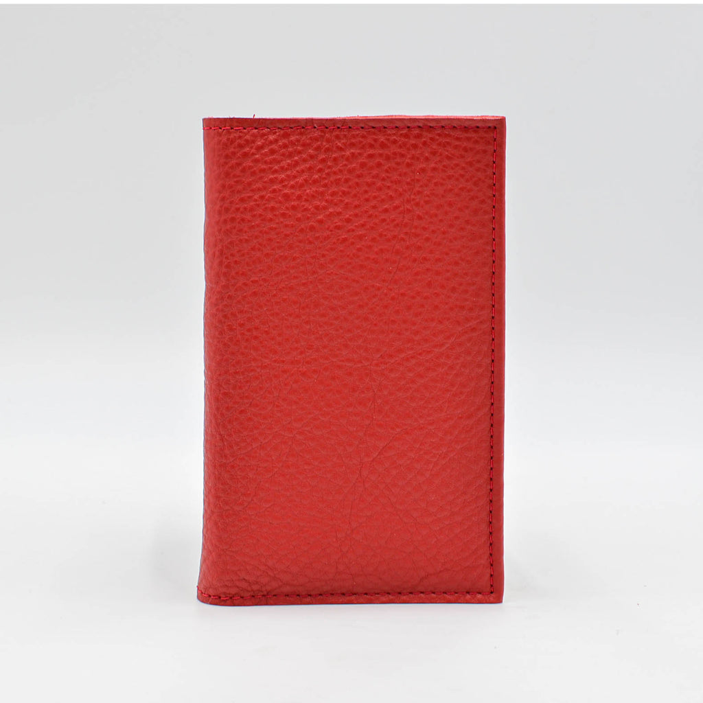 "Leather: Red Hand Crafted 6 3/4"" x 4"" cover for 3-1/4 x 6-1/4"