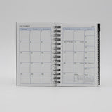 MWA35W 3 X 5 MCARTHY COLLECTION PLANNER ADDRESS COMBO WIRED WIREBOUND WHITE CALENDAR