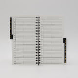 "McCarthy Collection: MWA36W 6-1/4"" x 3-1/4"" Wirebound Address/Planner Combo"