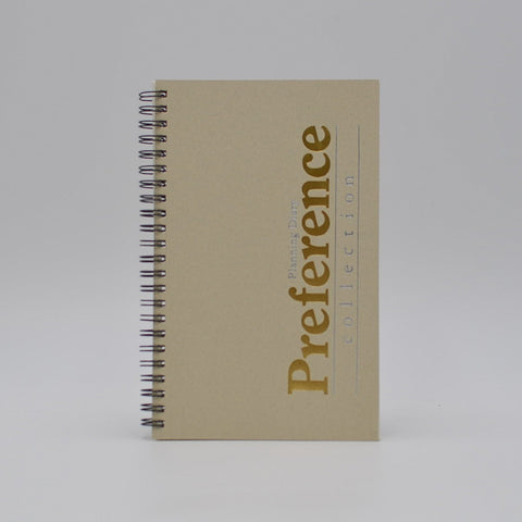 Preference Collection: PD85WI 8 x 5 Wirebound Planner monthly weekly calendar for 2019 or 2020 ivory wired