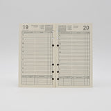 Preference Collection DD646-3-3/4 X 6-3/4 6-hole Daily Planner ivory 6 ring loose leaf calendar 2019 2020