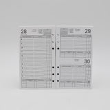 Preference Collection DD646-3-3/4 X 6-3/4 6-hole Daily Planner white 6 ring loose leaf calendar 2019 2020