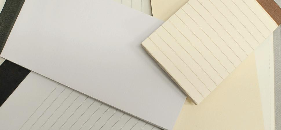 note notes sheets pad memo memopad ruled lined blank white ivory paper refill