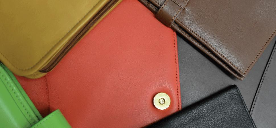 leather cover planner ring binder snap closure zipper red black blue green napa leather british tan brown navy