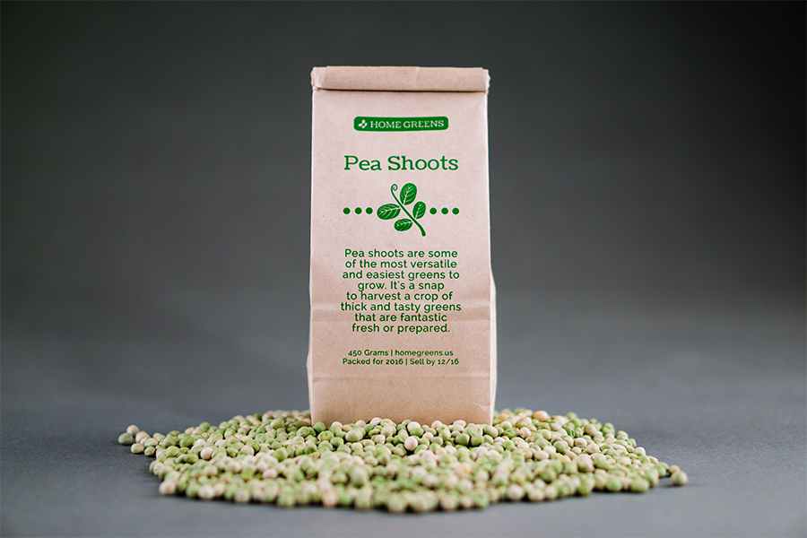 Pea Shoots Seed Bag