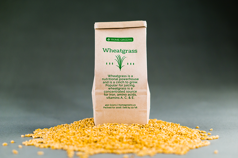Wheatgrass Seed Bag