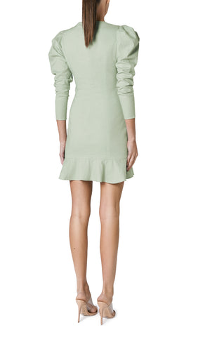 SOLE LINEN BUTTONED MINI (SAGE GREEN)