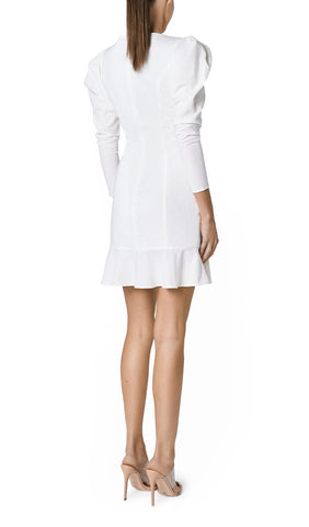 SOLE LINEN BUTTONED MINI (OFF WHITE)