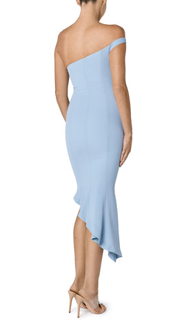 FREYA ASYMMETRIC FLOUNCE DRESS