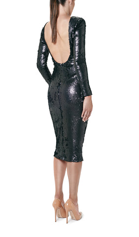 SEQUIN BACKLESS DRESS