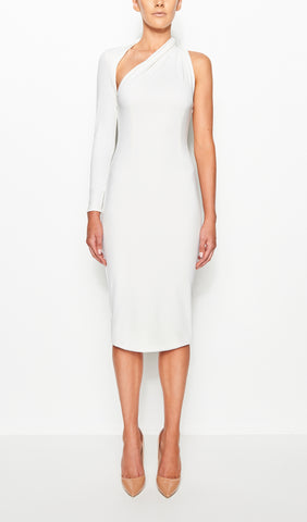 SIENNA ONE SHOULDER DRESS (OFF WHITE)