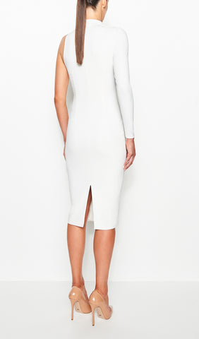 SIENNA ONE SHOULDER DRESS (WHITE)