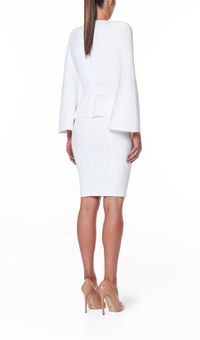 VALERIA BELL SLEEVE KNIT JACKET- WHITE