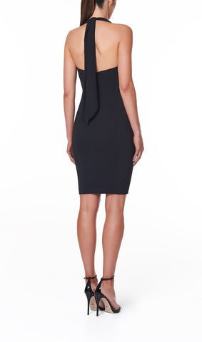 VALERIA MINI TIE NECK DRESS