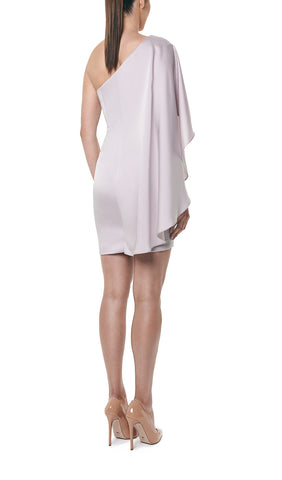 SATIN CAPE DRESS
