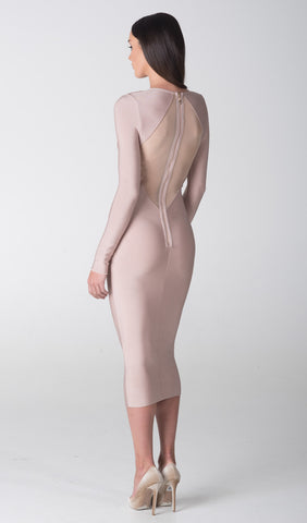 SIENNA SHEER PANELLED DRESS