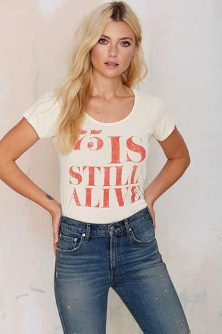 75 Is Still Alive Vintage Tee-Womans-Vintage Rockstar