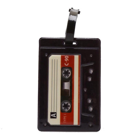 Cassette Tape Luggage Tag-Novelties-Vintage Rockstar