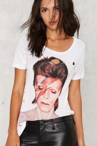 David Bowie Aladdin Sane T-shirt-Womans-Vintage Rockstar