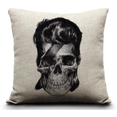 David Bowie Skull Cushion Cover-Home Decor-Vintage Rockstar