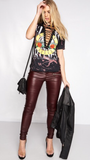 Guns N Roses Lace Up T-shirt-Vintage Rockstar