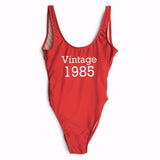 One Piece High Leg Swimsuits-Womans-Vintage Rockstar