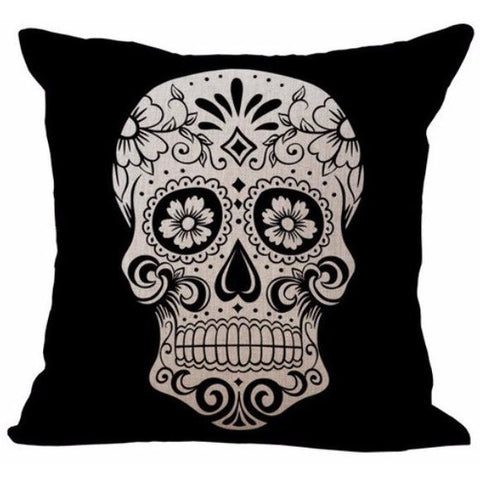 Sugar Skull Cushion Cover-Home Decor-Vintage Rockstar