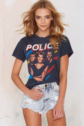 The Police Vintage Band Tee-Womans-Vintage Rockstar