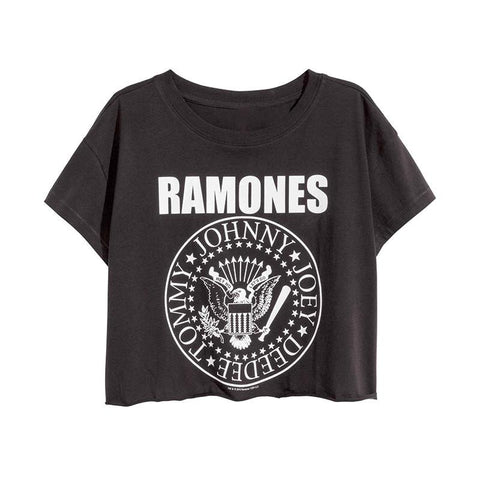 The Ramones Cropped Tee-Womans-Vintage Rockstar