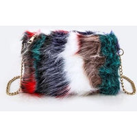 fur clutch, faux fur, handbags, clutch, paparazzi ready