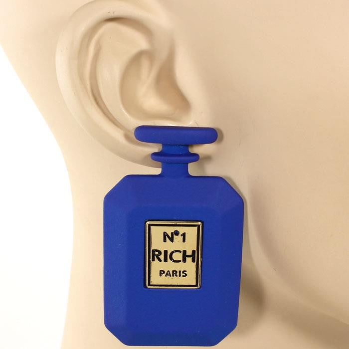 Perfume Bottle Matte Earrings