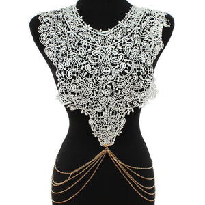 lace bodychain, bodychain, lace