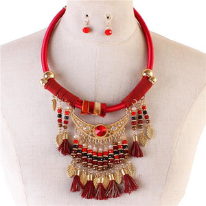Fashion Tassel Necklace Set