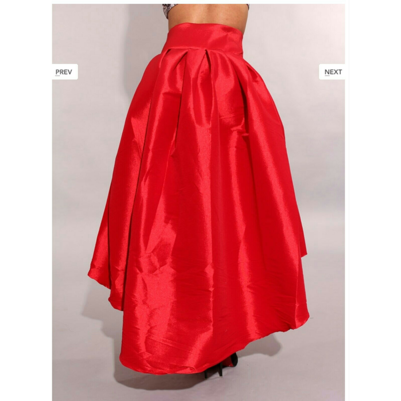 Bow HI-Low Skirt (RED)