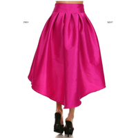 Bow Hi-Low Skirt (Magenta)