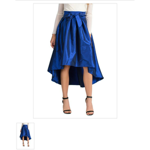 Bow Hi-Low Skirt (Royal Blue)