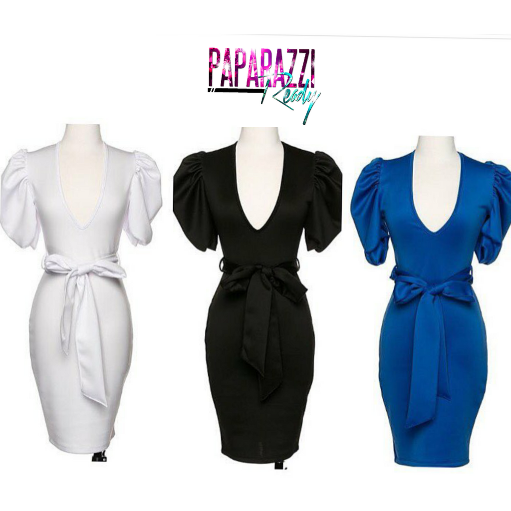 Power Shoulder Midi Dress  (Plus Size)