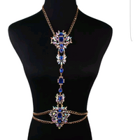 Gemstone Floral Bodychain