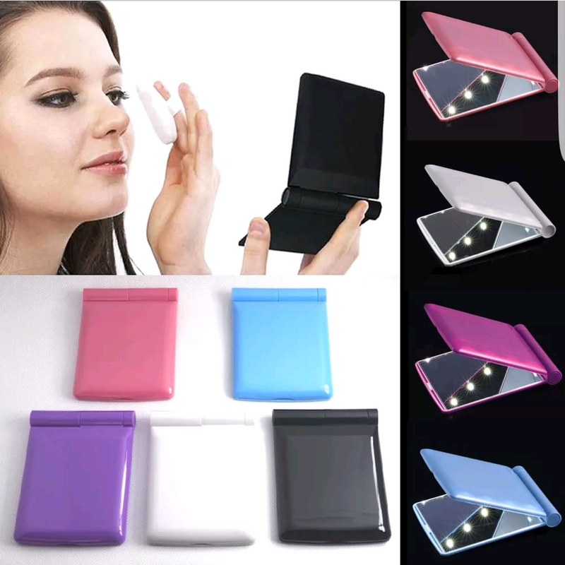LED Compact Makeup Mirror
