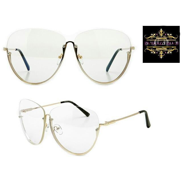 clear sunglasses, paparazzi ready glasses, rimless frames, rimless sunglasses, shades, sunnies, clear frames