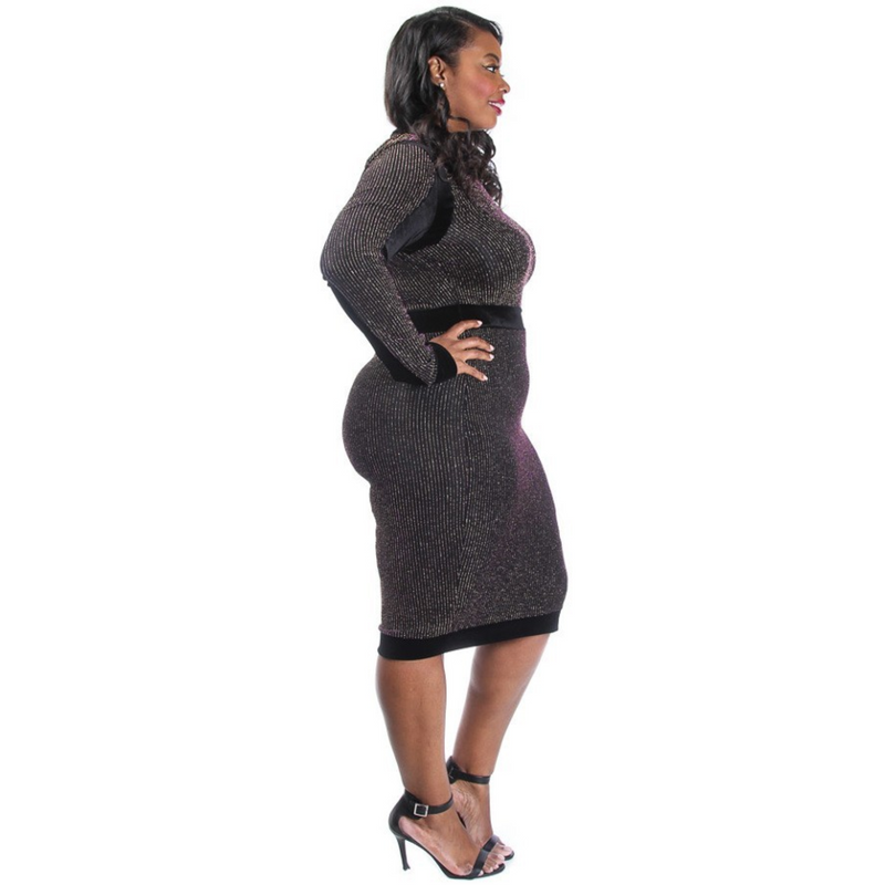 Shimmer Midi Dress (Plus Size)