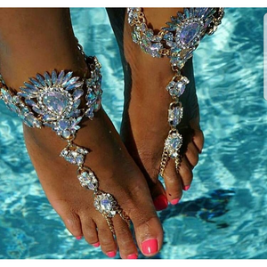 Glamour Luxe Foot Chain