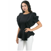 Ruffled Rose Blouse