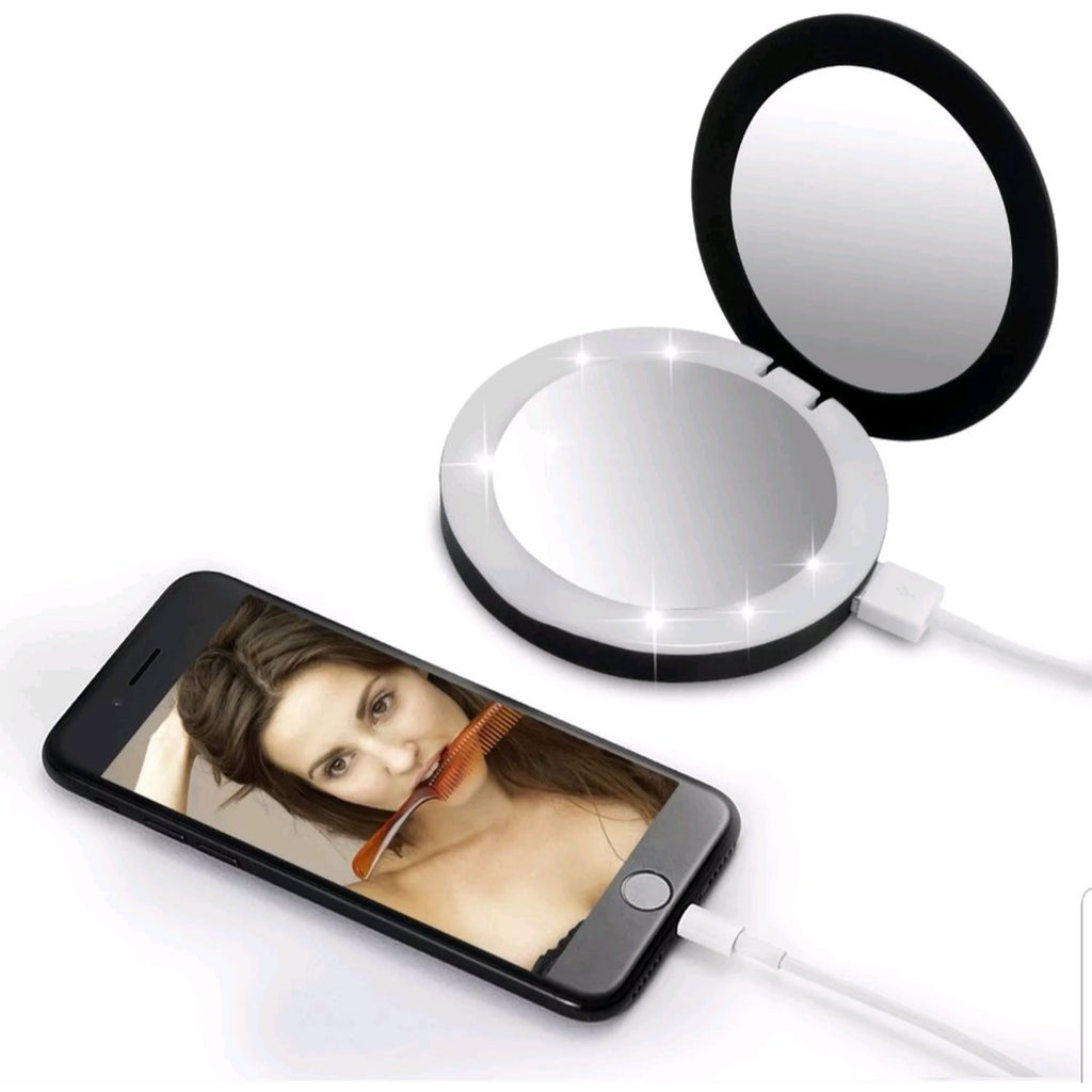 LED Compact Mirror Power Bank
