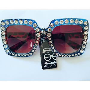 Diamond Luxe Color Block Sunglasses