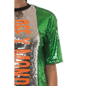 Off Monday Sequin Top