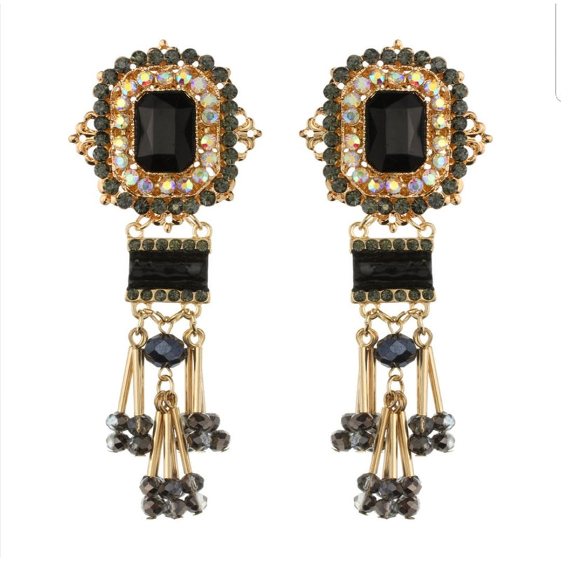 """ Beaded Beauty"" Statement Earrings"
