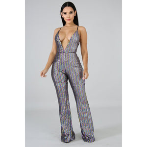 Glamour Girl Sequin Jumpsuit
